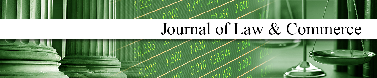 Journal of Law and Commerce | University of Pittsburgh School of Law